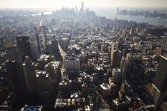 Κεραία πόλεων της Νέας Υόρκης Στοκ φωτογραφίες με δικαίωμα ελεύθερης χρήσης