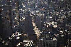 Κεραία πόλεων της Νέας Υόρκης Στοκ εικόνα με δικαίωμα ελεύθερης χρήσης