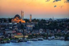 Κεραία της Ιστανμπούλ με το μπλε μουσουλμανικό τέμενος και Hagia Sophia Στοκ Φωτογραφίες