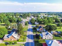 Κεραία της περιοχής κεντρικών δρόμων σε Shrewsbury, Πενσυλβανία Στοκ Φωτογραφίες