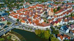Κεραία της πόλης Nuertingen Στοκ Εικόνες