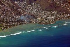 Κεραία της χερσονήσου Wailupe κατά μήκος Kalanianaole Hwy Στοκ εικόνες με δικαίωμα ελεύθερης χρήσης