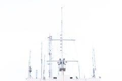 Κεραία τηλεπικοινωνιών για το ραδιόφωνο Στοκ φωτογραφία με δικαίωμα ελεύθερης χρήσης
