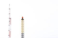 Κεραία τηλεπικοινωνιών για το ραδιόφωνο Στοκ Εικόνες