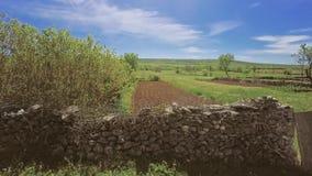 Κεραία τοίχων πετρών της Δαλματίας απόθεμα βίντεο