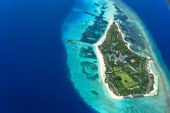 Κεραία του θερέτρου του Palm Beach και της SPA, νησί των Μαλδίβες Στοκ εικόνα με δικαίωμα ελεύθερης χρήσης