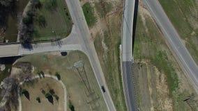 Κεραία του δρόμου frontage από την εθνική οδό 35 στο Ντάλλας απόθεμα βίντεο