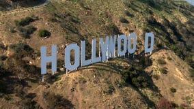 Κεραία του σημαδιού Hollywood απόθεμα βίντεο
