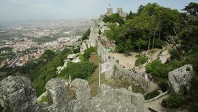 Κεραία του Castle Sintra απόθεμα βίντεο