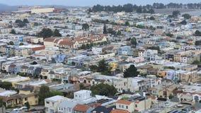 Κεραία χρονικού σφάλματος γειτονιά του Σαν Φρανσίσκο, Καλιφόρνια 4K απόθεμα βίντεο