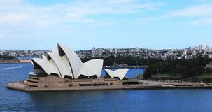 Κεραία Timelapse της Όπερας του Σίδνεϊ, Αυστραλία 4K φιλμ μικρού μήκους