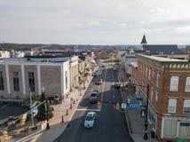 Κεραίες ιστορικού Littlestown, Πενσυλβανία γειτονικό Gettys Στοκ Εικόνες
