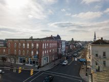Κεραίες ιστορικού Littlestown, Πενσυλβανία γειτονικό Gettys Στοκ φωτογραφία με δικαίωμα ελεύθερης χρήσης
