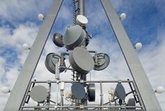 Κεραίες τηλεπικοινωνιών Στοκ Φωτογραφία