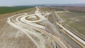 ΚΕΡΑΙΑ: Κατασκευή των νέων εθνικών οδών στην επαρχία απόθεμα βίντεο