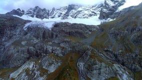 ΚΕΡΑΙΑ: Παγετώνας στην κορυφή του βουνού Παγετώνας της Sophia Προβλήματα της οικολογίας και της παγκόσμιας αύξησης της θερμοκρασί απόθεμα βίντεο