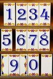 κεραμίδια αριθμού Στοκ φωτογραφίες με δικαίωμα ελεύθερης χρήσης
