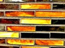 Κεραμίδια γυαλιού με τα χρώματα γη-τόνου στοκ εικόνες