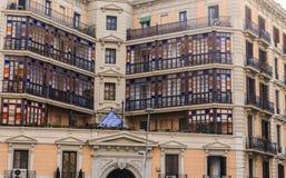Κεραμίδι γυαλιού εξωτερικό στο παλαιό κτήριο Στοκ εικόνες με δικαίωμα ελεύθερης χρήσης