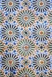 Κεραμίδια με τα floral μοτίβα και τα αστέρια Στοκ εικόνα με δικαίωμα ελεύθερης χρήσης