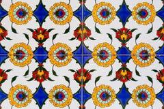 Κεραμίδια με το floral σχέδιο στοκ εικόνα