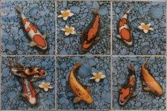 Κεραμίδια μωσαϊκών ψαριών ΚΥΠΡΙΝΩΝ Στοκ Φωτογραφία