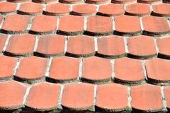 Κεραμίδια στεγών αργίλου Στοκ εικόνα με δικαίωμα ελεύθερης χρήσης