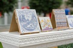 Κεραμίδια στην έκθεση στη Ρωσία Στοκ εικόνα με δικαίωμα ελεύθερης χρήσης