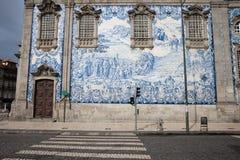 Κεραμίδια Azulejo στο Carmo Church Wall In Πόρτο Στοκ φωτογραφία με δικαίωμα ελεύθερης χρήσης