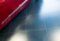 Κεραμίδι με τις αφές ενός αυτοκινήτων γωνιών σχεδίου στοκ εικόνες με δικαίωμα ελεύθερης χρήσης