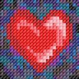 κεραμίδι μωσαϊκών απεικόνισης καρδιών ανασκόπησης Στοκ Εικόνα