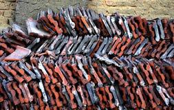 Κεραμίδι υλικού κατασκευής σκεπής Στοκ φωτογραφίες με δικαίωμα ελεύθερης χρήσης