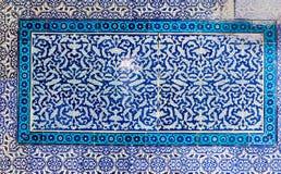 Κεραμίδι patern από το παλάτι Topkapı στη Ιστανμπούλ, Τουρκία Στοκ φωτογραφία με δικαίωμα ελεύθερης χρήσης