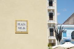 Κεραμίδι Vieja Plaza - παλαιά Αβάνα - Κούβα Στοκ Φωτογραφίες