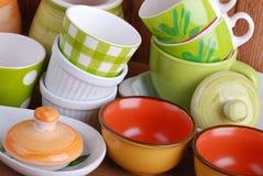 κεραμικά εργαλεία κουζινών Στοκ Εικόνα