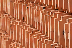 κεραμικά κεραμίδια στεγώ Στοκ φωτογραφία με δικαίωμα ελεύθερης χρήσης