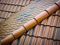 κεραμικά κεραμίδια υλικού κατασκευής σκεπής Στοκ εικόνα με δικαίωμα ελεύθερης χρήσης