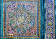 Κεραμικά κεραμίδια με τα παραδοσιακά περσικά σχέδια Στοκ Φωτογραφίες