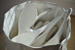 κεραμικά κουτάλια Στοκ φωτογραφίες με δικαίωμα ελεύθερης χρήσης