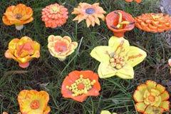 Κεραμικά λουλούδια Στοκ φωτογραφίες με δικαίωμα ελεύθερης χρήσης