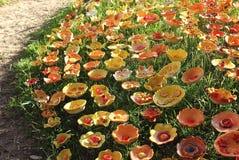 Κεραμικά λουλούδια Στοκ εικόνα με δικαίωμα ελεύθερης χρήσης