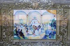 Κεραμικά azulejos Plaza de Espana, Σεβίλη, Ανδαλουσία, Ισπανία Στοκ Φωτογραφία