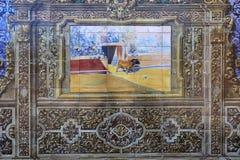 Κεραμικά azulejos Plaza de Espana, Σεβίλη, Ανδαλουσία, Ισπανία Στοκ Φωτογραφίες