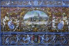 Κεραμικά azulejos Plaza de Espana, Σεβίλη, Ανδαλουσία, Ισπανία Στοκ φωτογραφίες με δικαίωμα ελεύθερης χρήσης