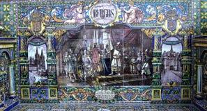 Κεραμικά azulejos Plaza de Espana, Σεβίλη, Ανδαλουσία, Ισπανία Στοκ φωτογραφία με δικαίωμα ελεύθερης χρήσης
