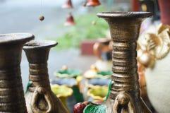 Κεραμικά handycrafts στα καταστήματα κατά μήκος του κύριου δρόμου του San Juan Oriente στις ορεινές περιοχές μεταξύ της Γρανάδας  Στοκ φωτογραφία με δικαίωμα ελεύθερης χρήσης