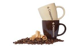 κεραμικές κούπες καφέ Στοκ Εικόνα