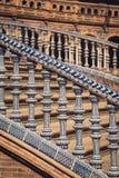 Κεραμική γέφυρα μέσα Plaza de Espana στη Σεβίλη, Ισπανία Στοκ Εικόνα