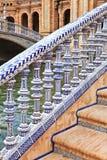 Κεραμική γέφυρα Plaza de Espana στη Σεβίλη, Ανδαλουσία Στοκ φωτογραφία με δικαίωμα ελεύθερης χρήσης