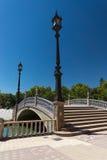 Κεραμική γέφυρα Plaza de Espana στη Σεβίλλη, Ισπανία Στοκ εικόνες με δικαίωμα ελεύθερης χρήσης